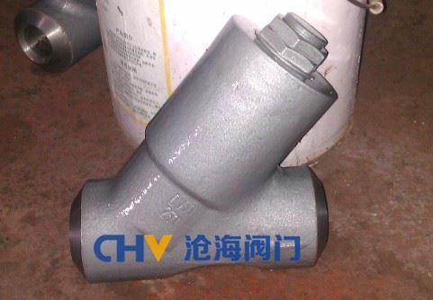 HG65A直流式高压微阻Y型止回阀